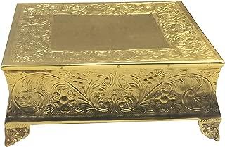 GiftBay Gold Wedding Cake Stand Square 16