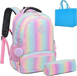 Girls Rainbow Glitter Backpack Cute Kids Preschool Backpack kindergarten School Bag Daypack Gift Backpack (Bling)