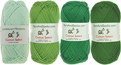 Cotton Select Sport Weight Yarn Color Palette Pack – 100% Fine Cotton –..