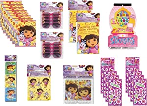 Dora The Explorer Birthday Party Favor Pack for 8 Includes Loot Bags, Glasses, Activity Pads, Notebooks