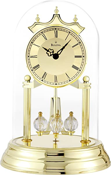 Bulova B8818 Tristan I Clock Brass Finish