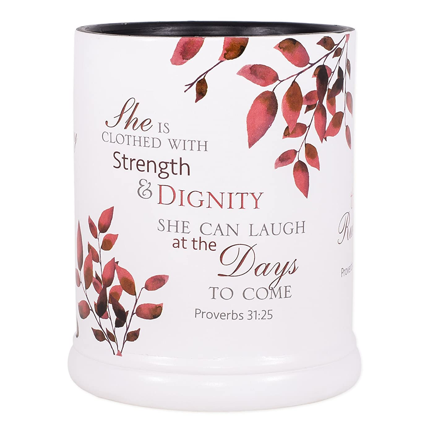 Elanze Designs She is More Precious Than Rubies Proverbs 31 Woman Ceramic Stone Electric Large Jar Candle Warmer