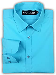 SPOTLIGHT Men's Solid Slim Fit Full Sleeve Formal/Casual Shirt