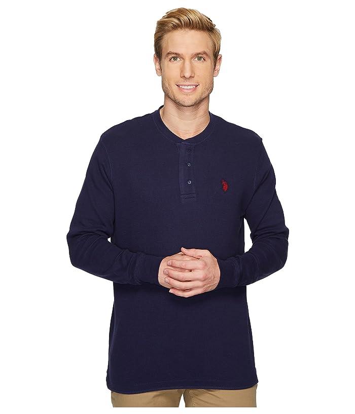 U.S. POLO ASSN. Long Sleeve Thermal Henley Shirt