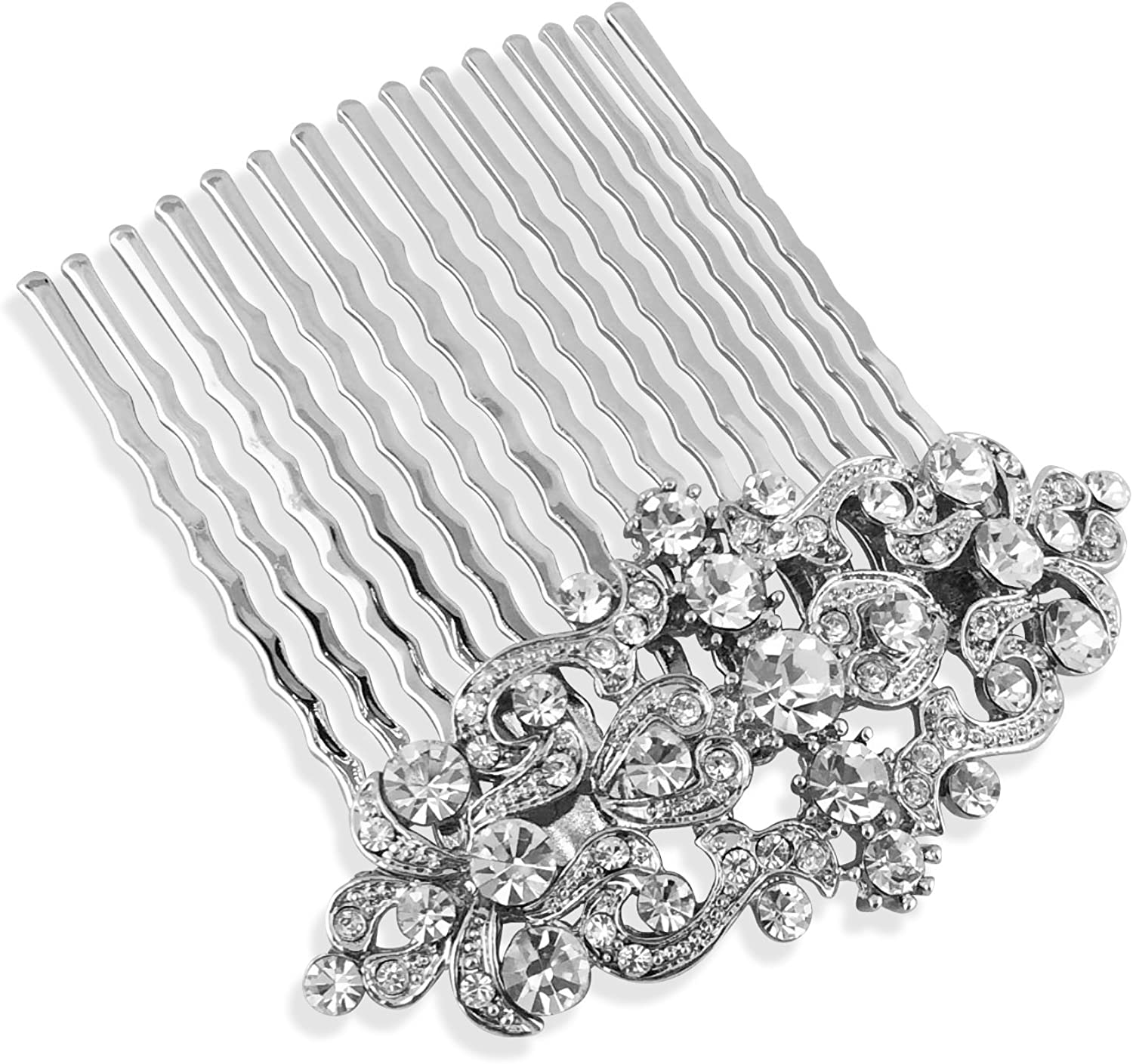 Bridal Petite Max 45% Year-end annual account OFF Vintage Crystal Scrolls Comb
