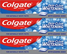 Colgate Deep Clean Whitening with Baking Soda Toothpaste 3 x 75ml Multipack