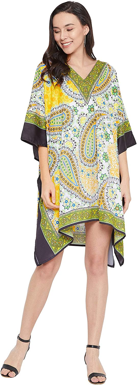 Gypsie Blu African Dashiki Caftan Tunic Tops Kimono Dress Summer Evening Plus Size Kaftan Cover-Up for Women