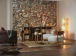 comprar comparacion Fotomural Stone Wall (muro de piedra) 3,68 x 2,54 m. Formato grande XXL! - Fotomurales Komar