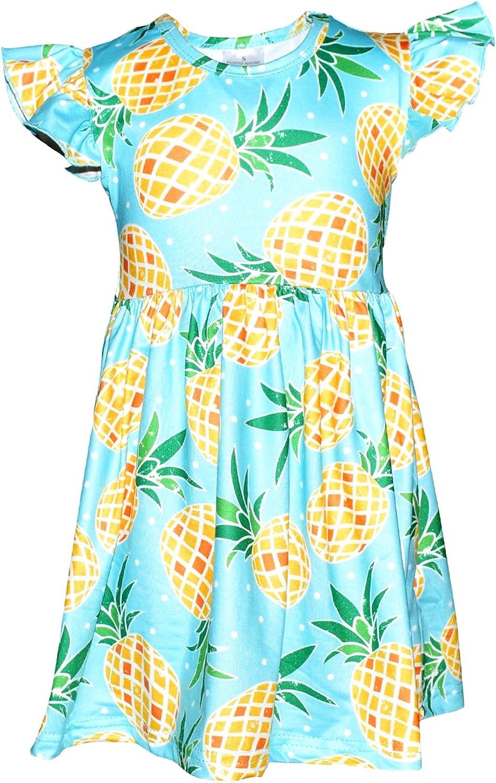 Unique Baby Girls Spring Summer Pineapple Dress