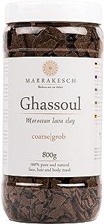 Ghassoul Rhassoul Gránulos 800g | Arcilla roja marroquí para usar como mascarilla para la limpieza facial | Peeling natural para la cara y el cabello | Arcilla limpiadora para el cuidado personal.