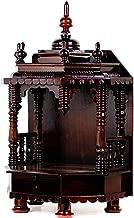 Nagina International Premium Hand Made Wooden Temple | Wooden Indian Mandir | Sheesham Wooden Madir (Dark Varnish)