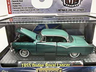 M2 Machines Auto-Thentics 1955 Dodge Royal Lancer 1:64 Scale 08-44 Green/Light Green Details Like NO Other!