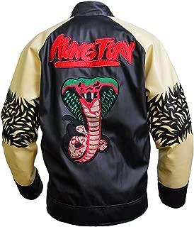 Kung Fury Jacket David Hasselholf Cobra Leather Jacket, XXS-3XL