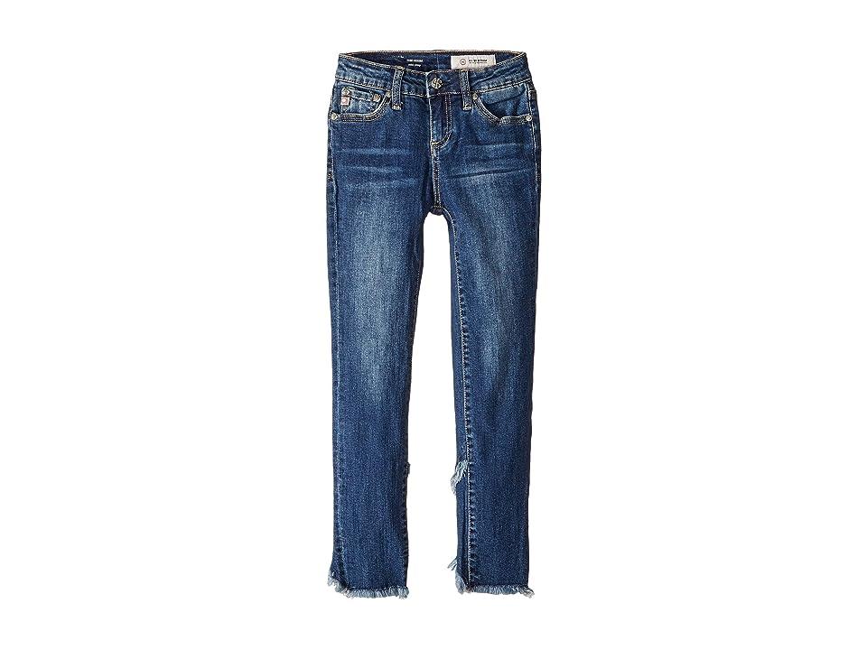 Image of AG Adriano Goldschmied Kids 23 Tulip Ankle Skinny Jeans in Vintage Sky (Big Kids) (Vintage Sky) Girl's Jeans