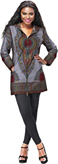 Women African Fashion Clothes Long Sleeve Coat Ankara Print Dashiki Long Jacket