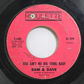 Sam & Dave 45 RPM You Aint No Big Thing Baby / It Was So Nice While It Lasted