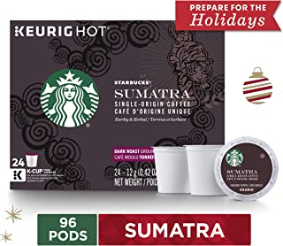 Starbucks Sumatra Dark Roast Single Cup Coffee for Keurig Brewers, 4 Boxes of 24   Great Holiday Gift for Coffee Lovers