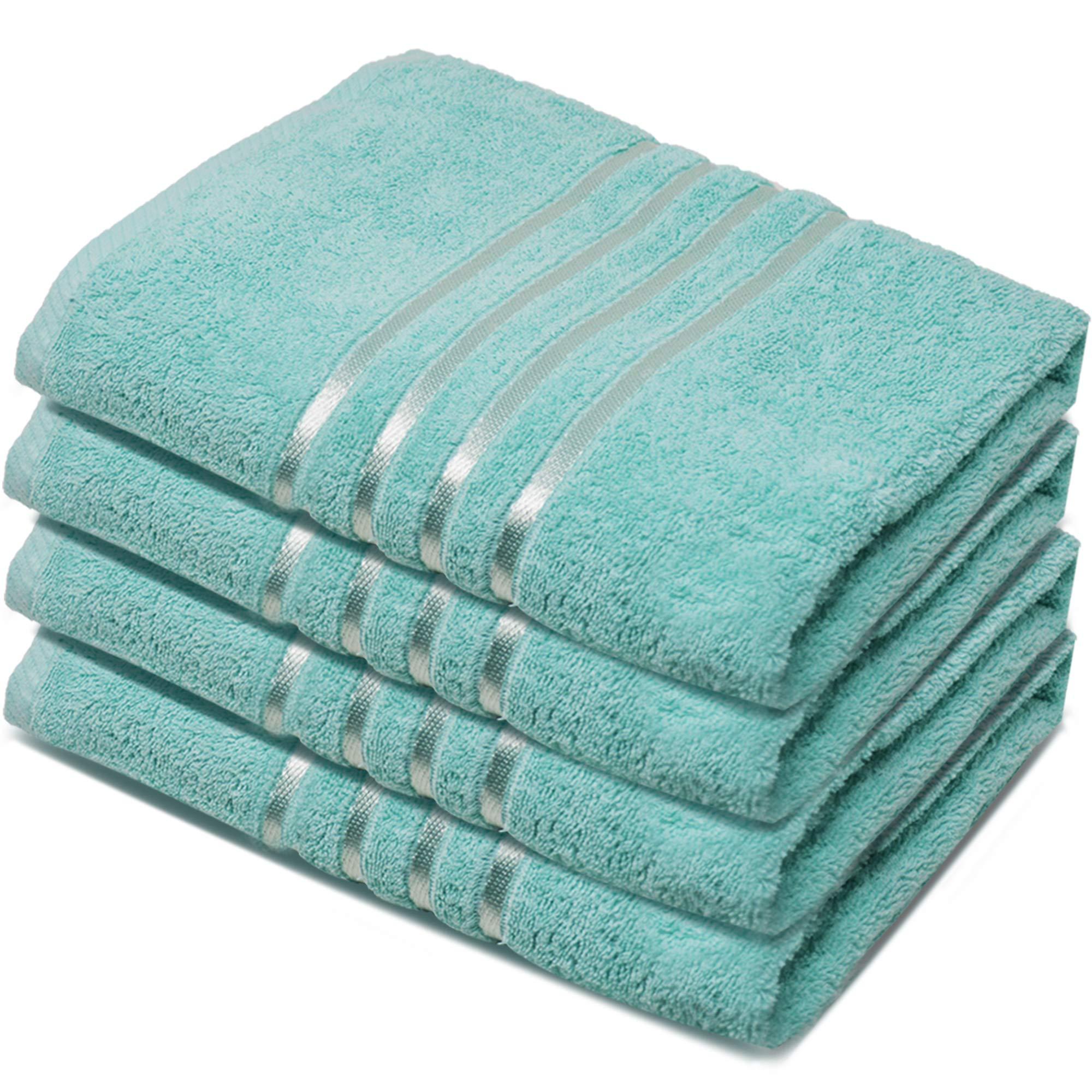 Towelogy® - Juego de Toallas de baño de algodón 100% Hilado en Anillo, 500 g/m², Peso Pesado y Absorbente, Uso Diario, Aguamarina, Pack de 4: Amazon.es: Hogar