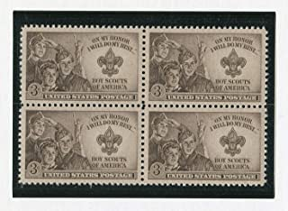 Boy Scouts Jamboree ~ Strengthening the Army of Liberty (Scott #995) Block of 4 x 3¢ US Postage Stamps