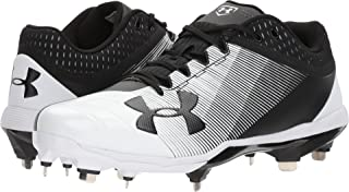 Under Armour Yard Low DT Metal Black White Men's Baseball Cleats 12M