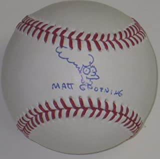 MATT GROENING SIGNED AUTOGRAPHED BASEBALL SIMPSONS AUTOGRAPH EXACT PROOF PSA/DNA