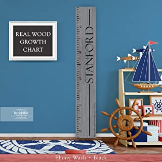 Wooden Kids Growth Chart Ruler for Boys and Girls Painted or Engraved (The Stanford) Back40Life