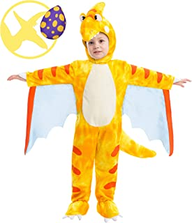 Pterodactyl Dinosaur Costume Prehistoric Kid and Toddler Deluxe Set for Halloween Dress Up Party