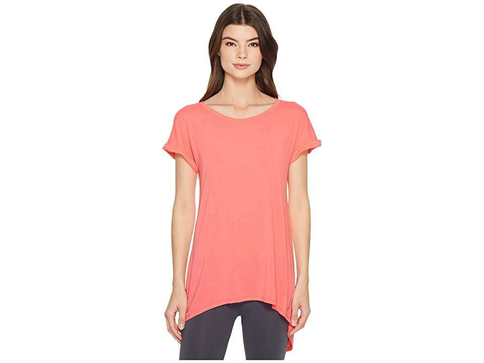 Splendid Studio Split Back Tee (Bright Salmon) Women