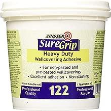 Rust-Oleum Clear 69384 1-Quart SureGrip 122 Heavy Duty Strippable Wallpaper Adhesive, 1 Pack