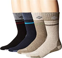 Pop Stripe Wool Crew Extended Sizes 4-Pack