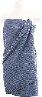 AQUIS Microfiber Waffle Body Towel, Dark Grey
