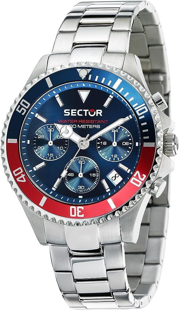 Sector no limits orologio, cronografo per uomo,in acciaio inossidabile R3273661008