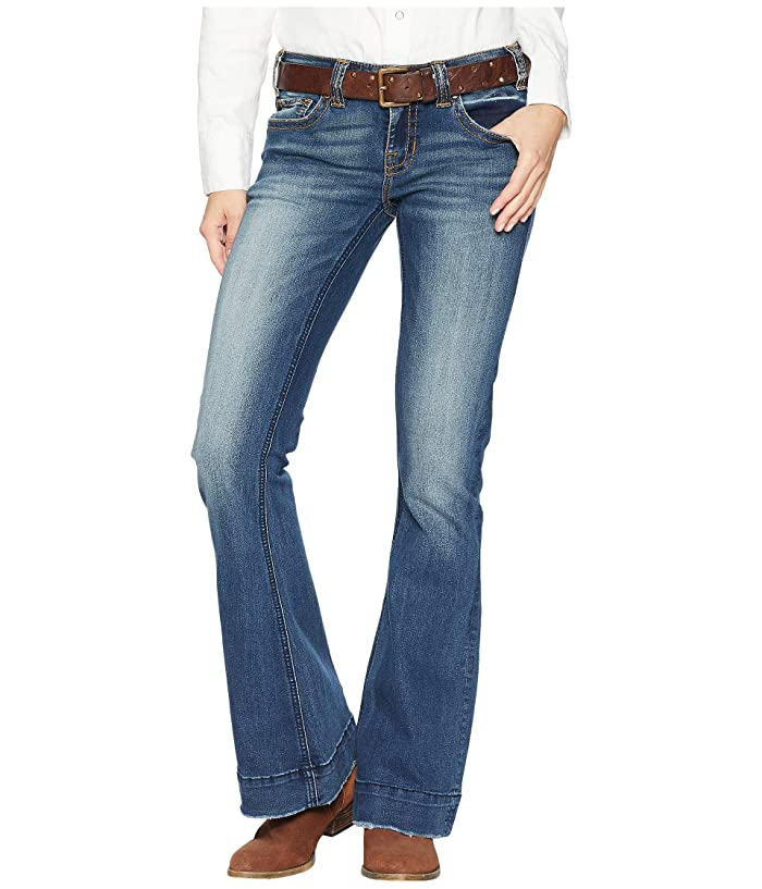 Rock and Roll W8-7683 Cowgirl Trouser Jeans in Dark Vintage Wash