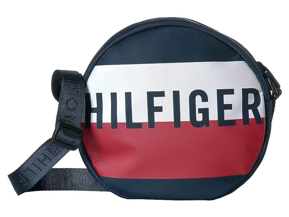 Tommy Hilfiger Keys Canteen Crossbody (Navy/Red/White) Handbags, Blue