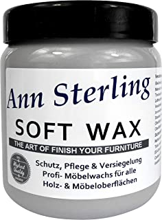 Ann SterlingSoft Wax Wachs Möbelwachs Shabby Chic Holzwachs Versiegelung Finish Wachs Kalkwachs 500ml, Grau