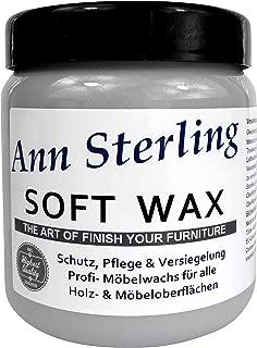Ann SterlingSoft Wax Wachs Möbelwachs Shabby Chic Holzwachs Versiegelung Finish Wachs Kalkwachs 250ml, Grau