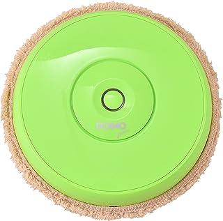 DOMO AUTO WIPER 床拭き掃除ロボット 乾拭き モップ付 ロボット掃除機 お掃除ロボット 全自動掃除機 安い 繰り返し 軽量薄型 超静音 薄型 ペット 毛 1年保証 (グリーン)