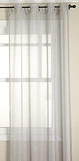 Stylemaster DAZ-PLATGMT84 Curtain Panel, Platinum