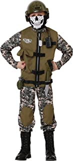 Kids Camo Trooper Costume Tactical Vest Camouflage Army Costume Child