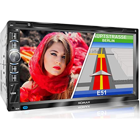 Xomax Xm 2dn6903 Autoradio Mit Gps Navigation I Navi Software Inkl Europa Karten I Bluetooth Freisprecheinrichtung I 18cm Touchscreen Bildschirm I Dvd Cd Player I Sd I Usb I Aux I 2din Amazon De