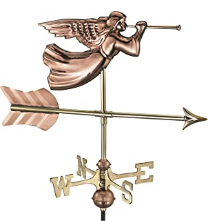 Good Directions Angel Weathervane with Roof Mount, Pure Copper
