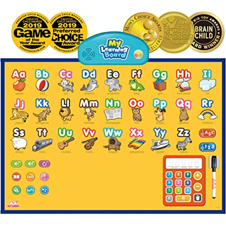 BEST LEARNING i-Poster My Learning Board - Electronic Interactive Educational Talking Alphabet Numbers Music Poster Toy for Kids Boys & Girls 2 3 4 5 6 Years Old Daycare Preschool