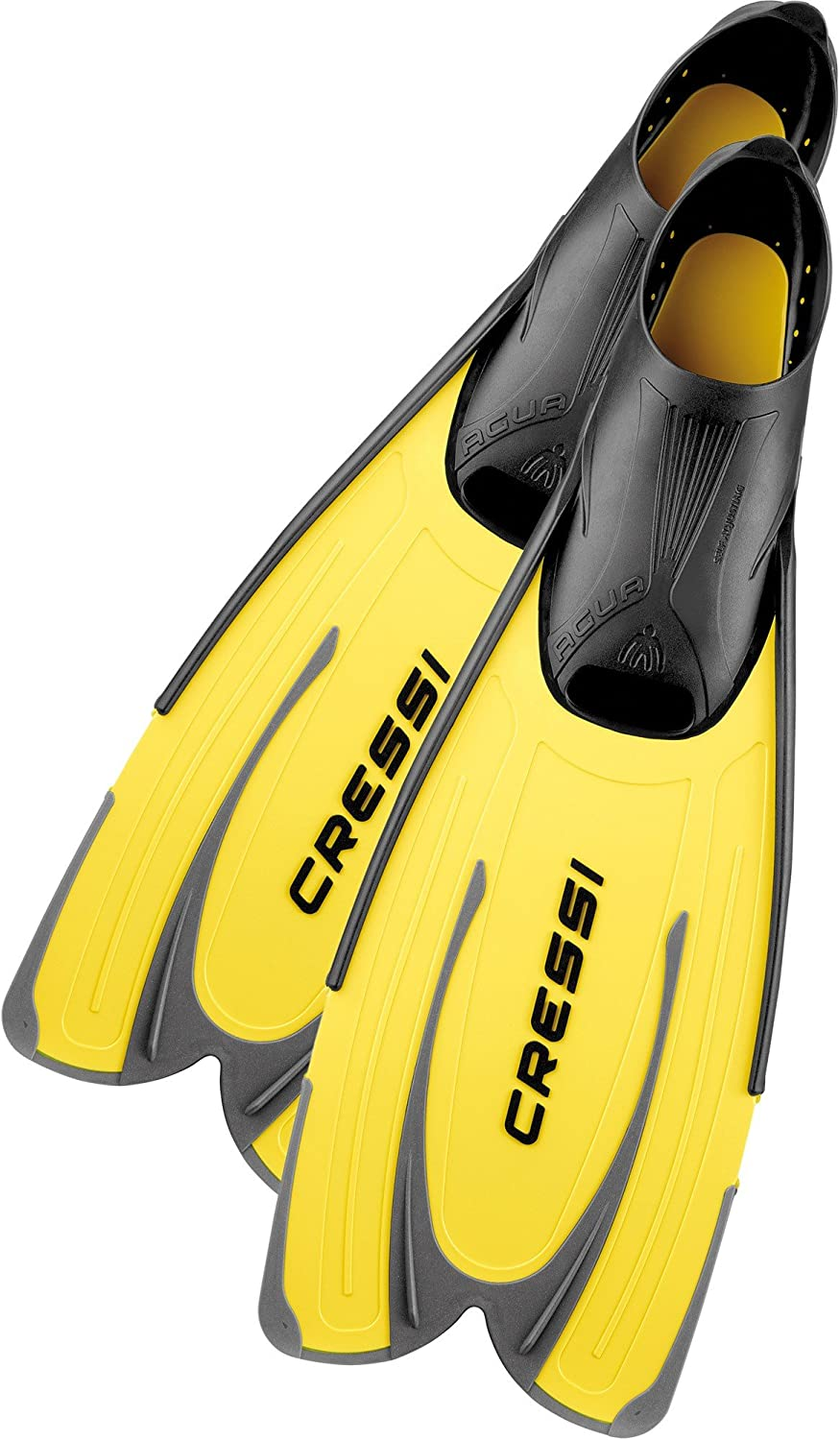 CRESSI (Cressy) scuba snorkel swim fin Agua [AGUA] long blade Furufutto [Japan imports regular agency goods] yellow 35 36 (2.5   3.5) CA201035