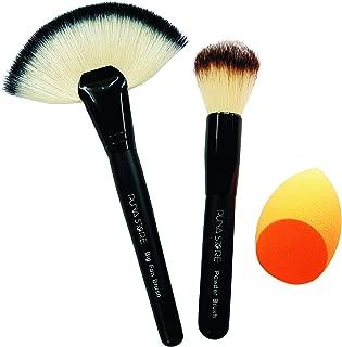 Puna Store Model PS-610 Makeup Brush and Sponge Combo -Set of 3 Pieces