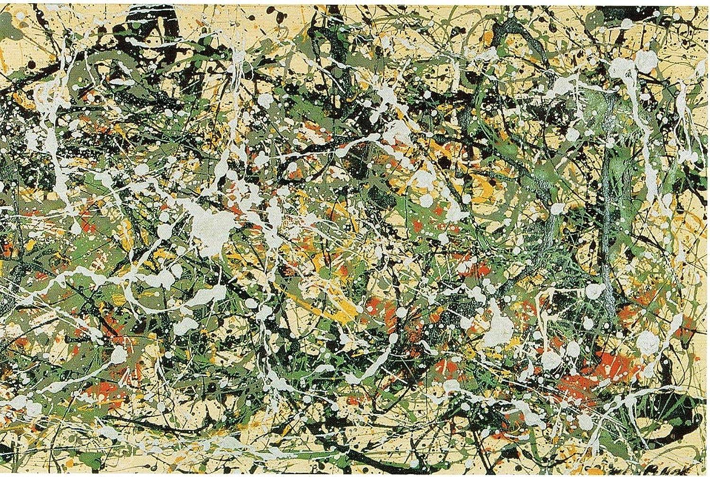 Black Creations Detail of Nr.8 Jackson Pollock 1949 Poster Canvas Picture Art Print Premium Quality A0 A1 A2 A3 A4 (A0 Canvas (30 40))