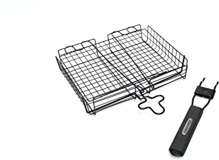 GrillPro 24876 Deluxe Non Stick Broiler Basket with Detachable Handle