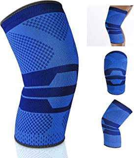 A2ZCare Knee Brace Support Compression Sleeves FDA Approved, Anti-Slip Design for Meniscus Tear, Arthritis, Pain Recovery – Knee Support for Running, Playing Sports (Single - L)