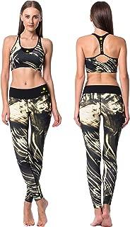 Guely Ray Women Yoga Wear Sports Bra Leggings Tank Top Shorts Active Suit Set