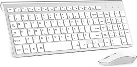 Portable Wireless Keyboard Mouse - JOYACCESS USB 2.4G Slim Keyboard and Mouse with Numeric Keypad,Ergonomic,Less noise,Reliable Connection,Adjustable DPI for Windows, Desktop, Laptop, Surface, Smart T