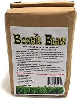 Boogie Brew Organic Insect Frass 1 Lbs - Black Soldier Fly Larvae Derived from The Exoskeletal and Exudate Matter of The Black Soldier Fly Larvae, Hermetia Illucens (Insect Frass, 1lb)